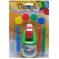 Dough 2 in 1 Wheel Roll N Stamp Set